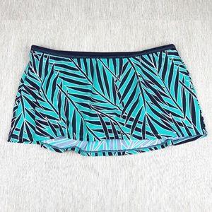Other - Bikini Skirt Aqua / Black Print